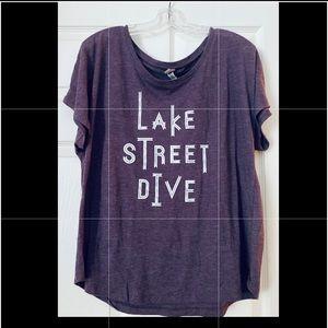 Lake Street Dive Ladies Purple Tee, XXL, NWOT